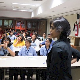 Jane D'Souza conducting the Writers' Workshop
